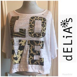 "NWT dEliA*s ""LOVE ""Animal Print Burnout Top 🐆"